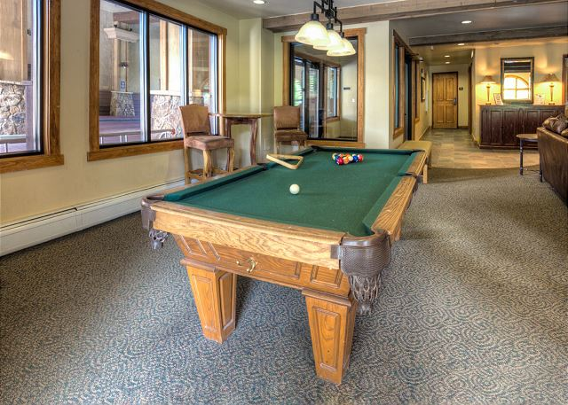 Shared Pool Table at Red Hawk Lodge