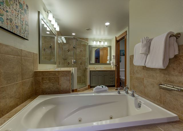 The master bathroom for the second master bedroom.