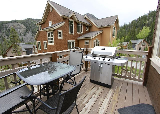 Private Deck with Grill