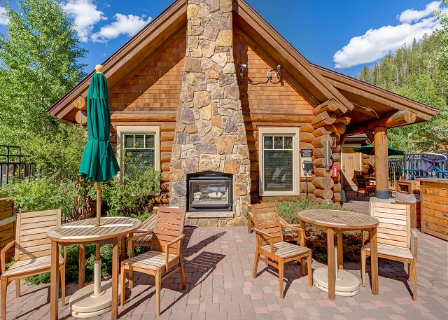 Shared Outdoor Seating and Fireplace