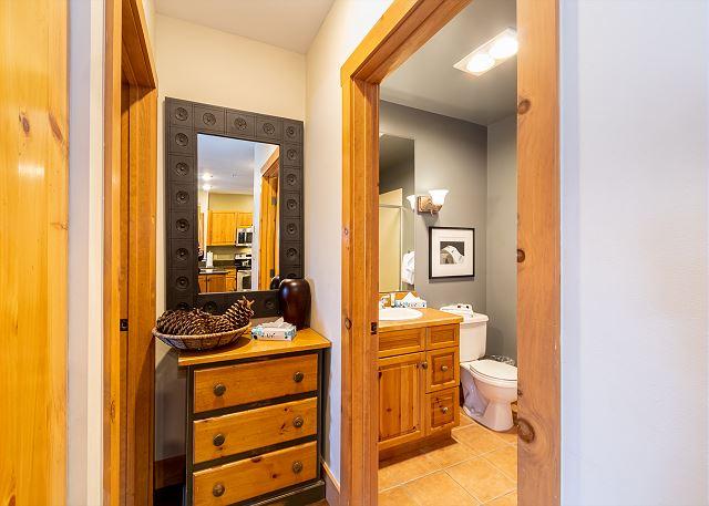 Guest bathroom entrance