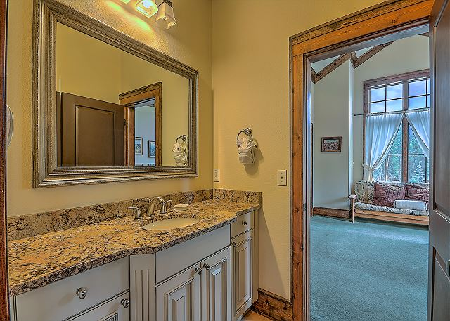 This guest bathroom is shared by both of the second level guest bedrooms.