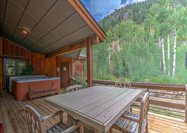 The home has beautiful decks allowing you to enjoy the outdoors from your private hot tub.