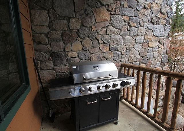 Private grill on the patio.