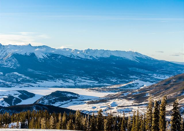 View of Lake Dillon from Keystone Mountain.