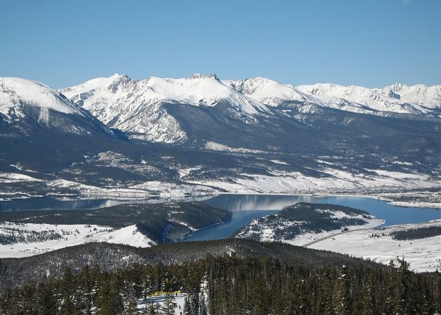 Beautiful view of Lake Dillon from the top of Keystone Ski Resort