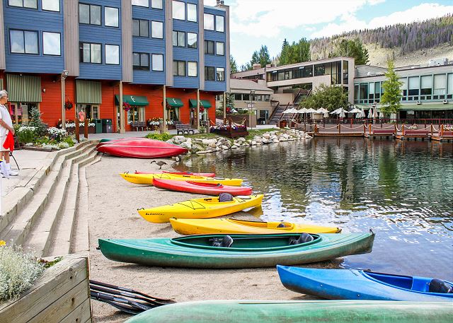 During the summer activities on Keystone Lake include canoeing and paddle-boating.