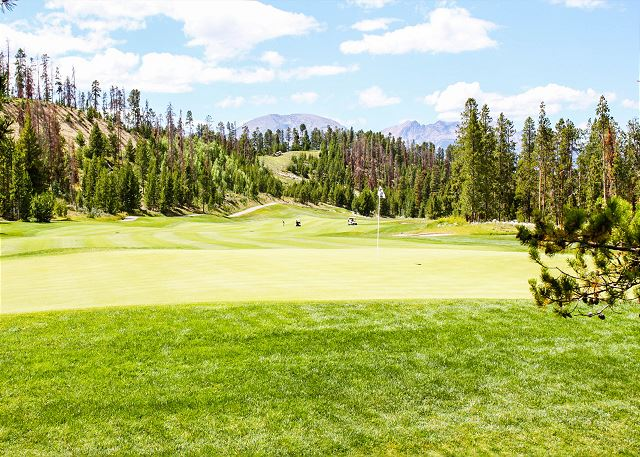 Keystone is home to two championship golf courses, and Antlers Gulch is just across from The River Course.