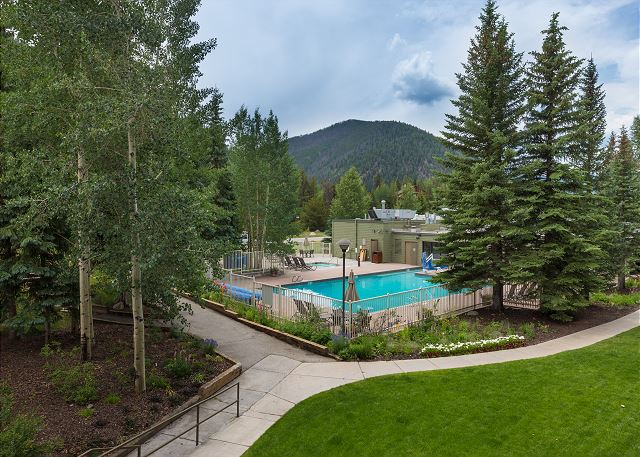 View of Keystone Lodge Pool from The Plaza