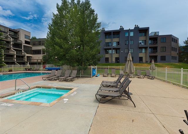 View of The Plaza from Keystone Lodge Pool