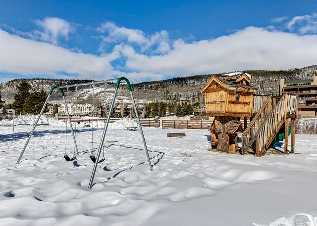 The playground is east of Keystone Lake.