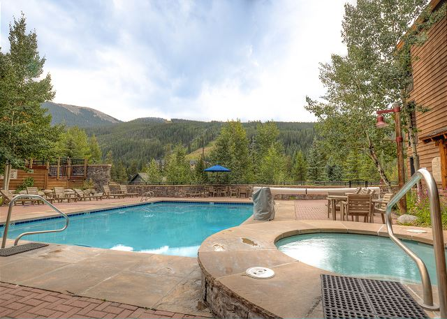 Guests of Trapper's Crossing have access to the pool and hot tubs at Dakota Lodge in River Run Village.