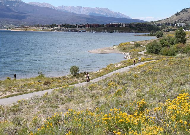 Lake Dillon offers many activities including hiking, biking and canoeing.