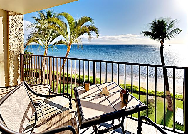 Private lanai overlooking the glittering Pacific