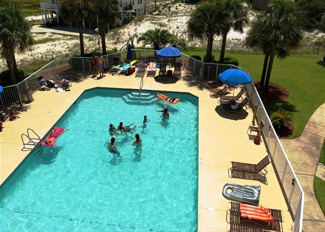 The pool at the Dunes Condominiums.