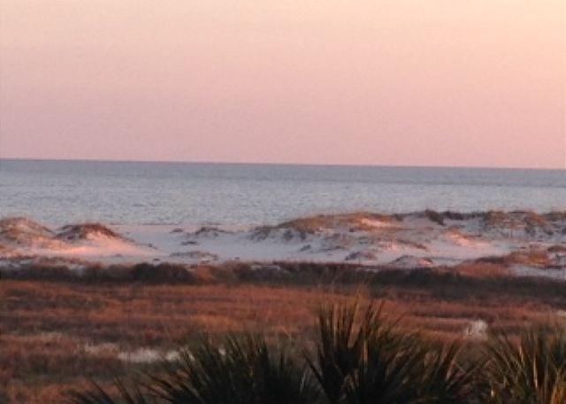 The gorgeous Fort Morgan beach.