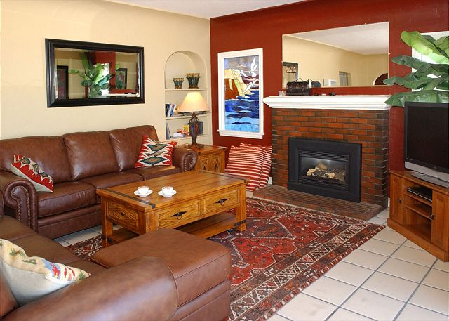 Traditional Spanish style home-fireplace, wraparound deck, hot tub, fire ring - San Diego, California