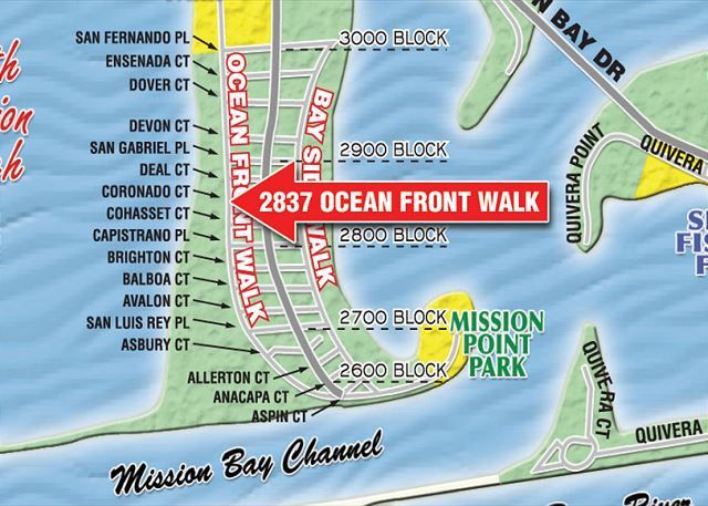South Mission Beach Stand Alone Vacation Home 2837 Ocean Front Walk San Diego Ca