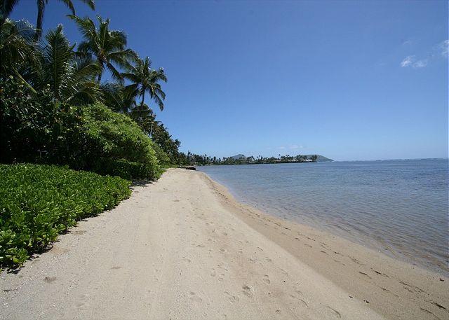 walk to beach takes less than a minute down private path