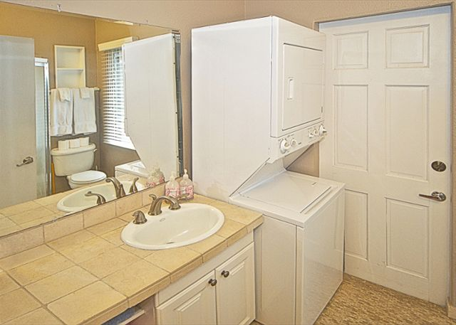 3rd full bathroom with washer and dryer