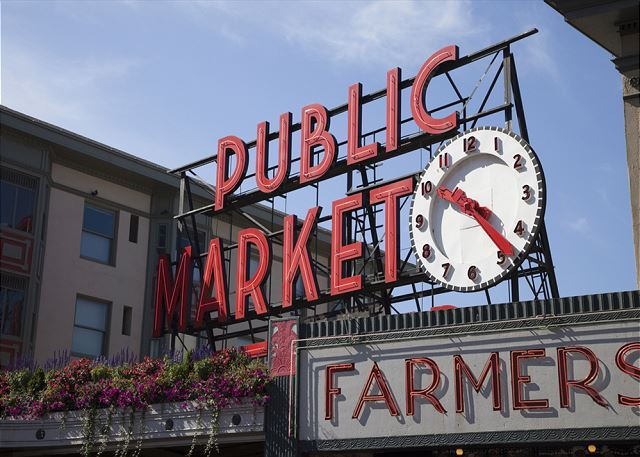 Downtown and Pike Place market are a short drive away