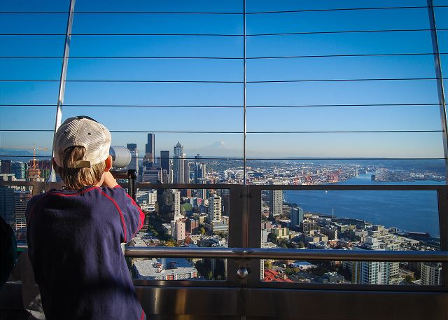 Nothing compares to the view from the Space Needle Observation Deck.