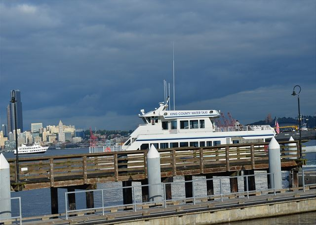 Take the water taxi to downtown Seattle