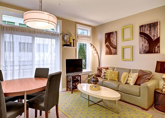 Well decorated Living Space with Retro Touches