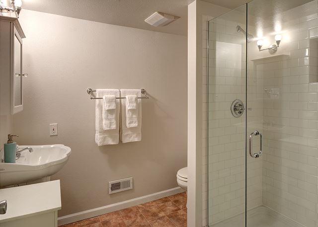 Downstairs bathroom was just remodeled