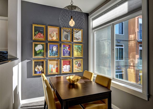 Colorful and bright dining room
