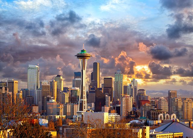 Take in the locals' favorite view of Seattle at Kerry Park in Queen Anne.