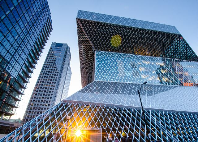 The stunning Seattle Central Library, just a short walk from the Luxury Suite!