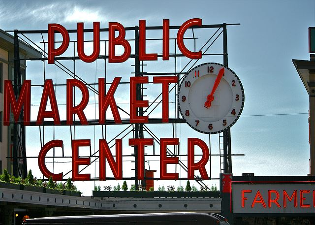 Walk to the famous Pike Place Market