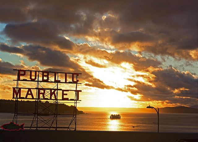 Saunter through Pike Place Market at sunup or sundown.