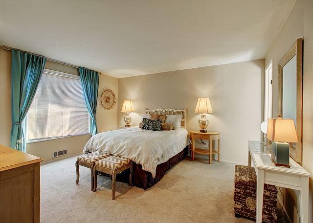 Master bedroom is tastefully decorated