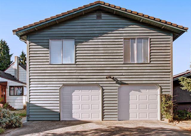Large garage parking spot