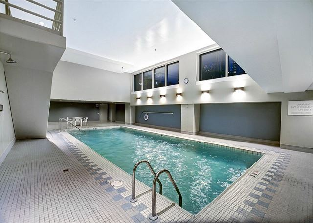 Indoor pool with plenty of room