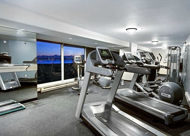 Work out with a view of the Puget Sound and the Olympic Mountains