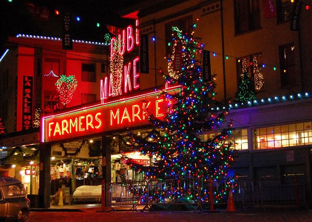 Nothing like the holidays at Pike Place Market.