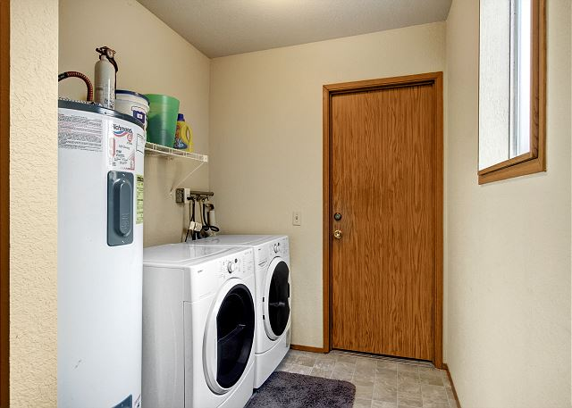 Washer and dryer conveniently located downstairs
