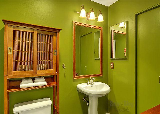 Beautiful half bathroom on the first floor.