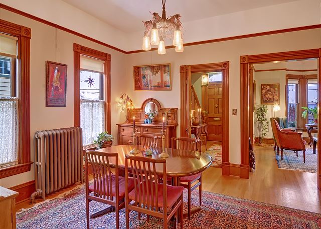Formal dining room with seating for 8