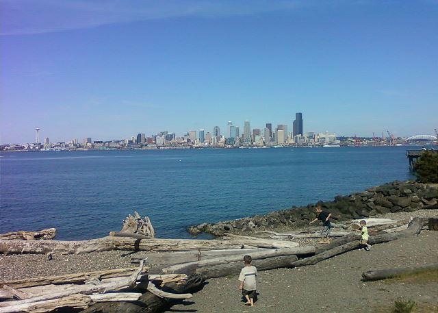 View of Seattle from Alki Beach in West Seattle
