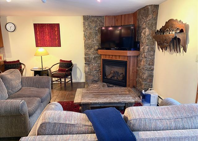 This 2 level condo has 2 bedrooms with a sleeper den and 3 full bathrooms