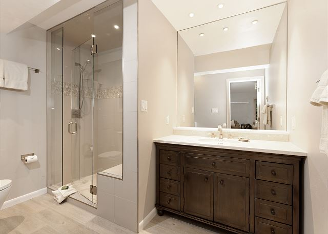 Beautiful walk-in shower.