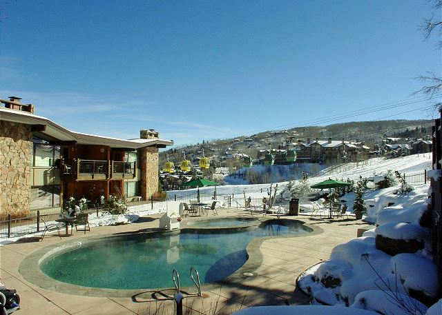 Heated pool and 2 hot tubs in courtyard