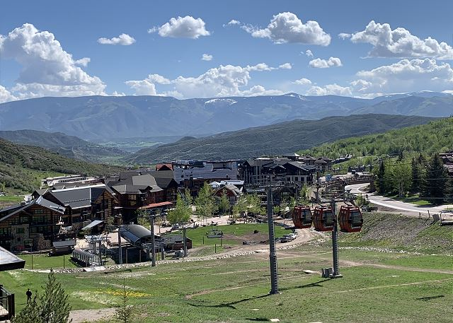 What a view from our condo!  Summer in Snowmass is amazing!