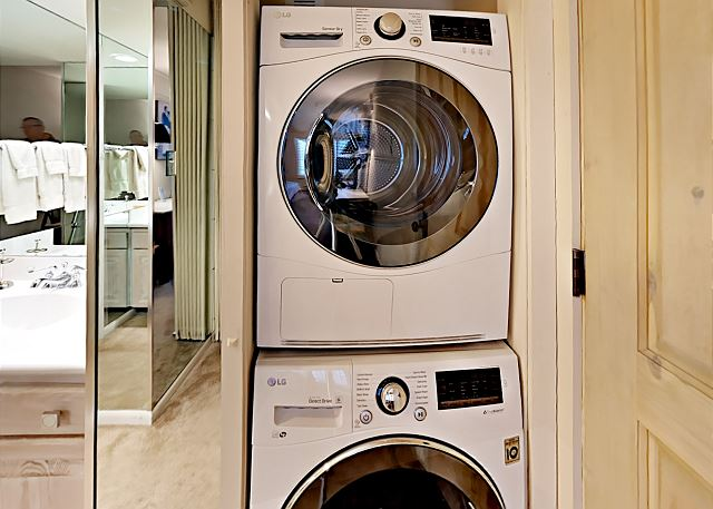 Our owners gifted us with a new full sized washer/dryer in condo this season.