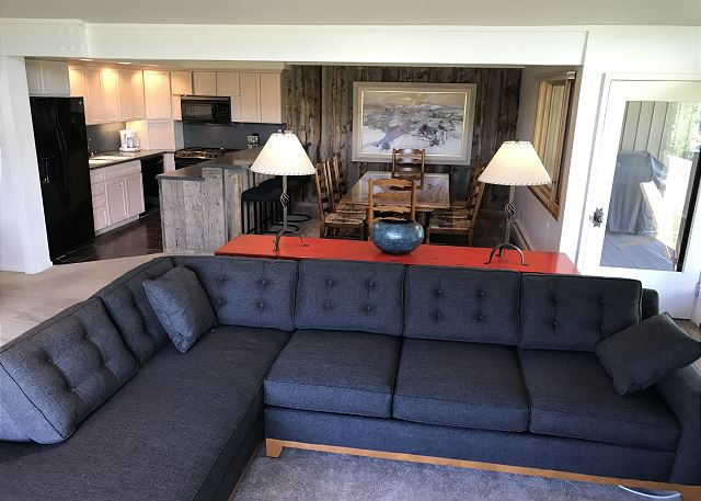 Plenty of seating in living room to watch your favorite movies.