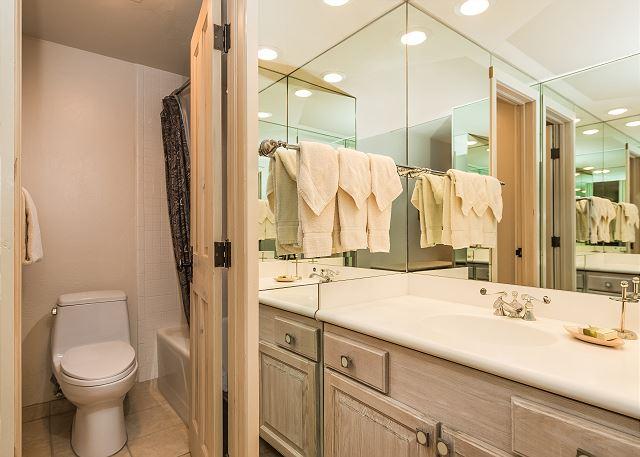 Each bedroom has it's own full bathroom